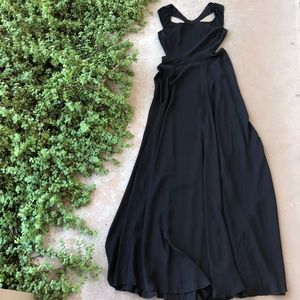 Reformation Black Cutout Open Back Maxi Dress